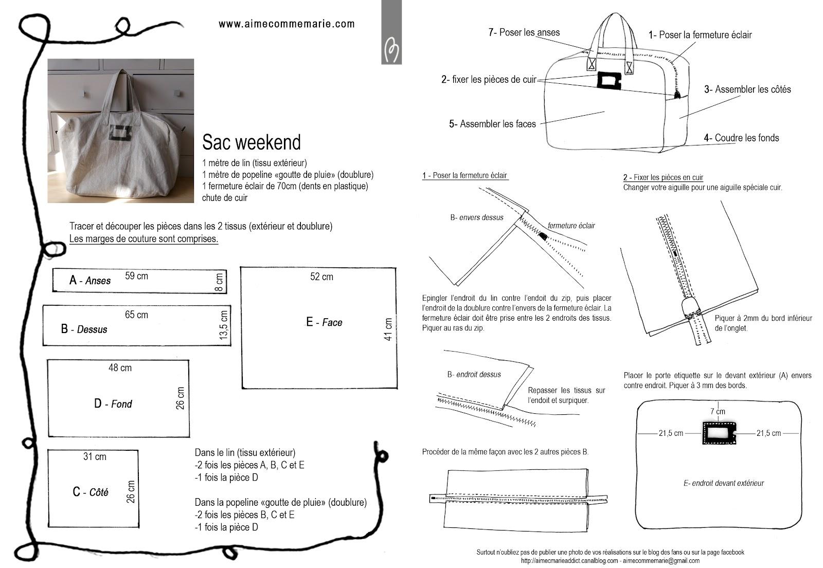 Patron couture gratuit sac besace 4 - Patron pochette couture gratuit ...