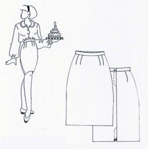 Atelier couture v tement premier projet une jupe droite biblioth que m diath que de conty - Patron couture jupe droite ...