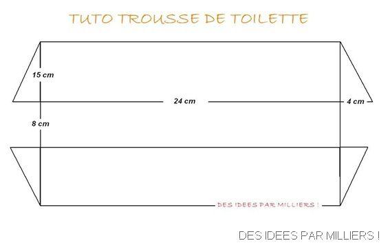 patron couture trousse toilette