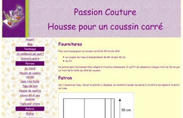 Mod le couture housse coussin 13 for Couture housse coussin