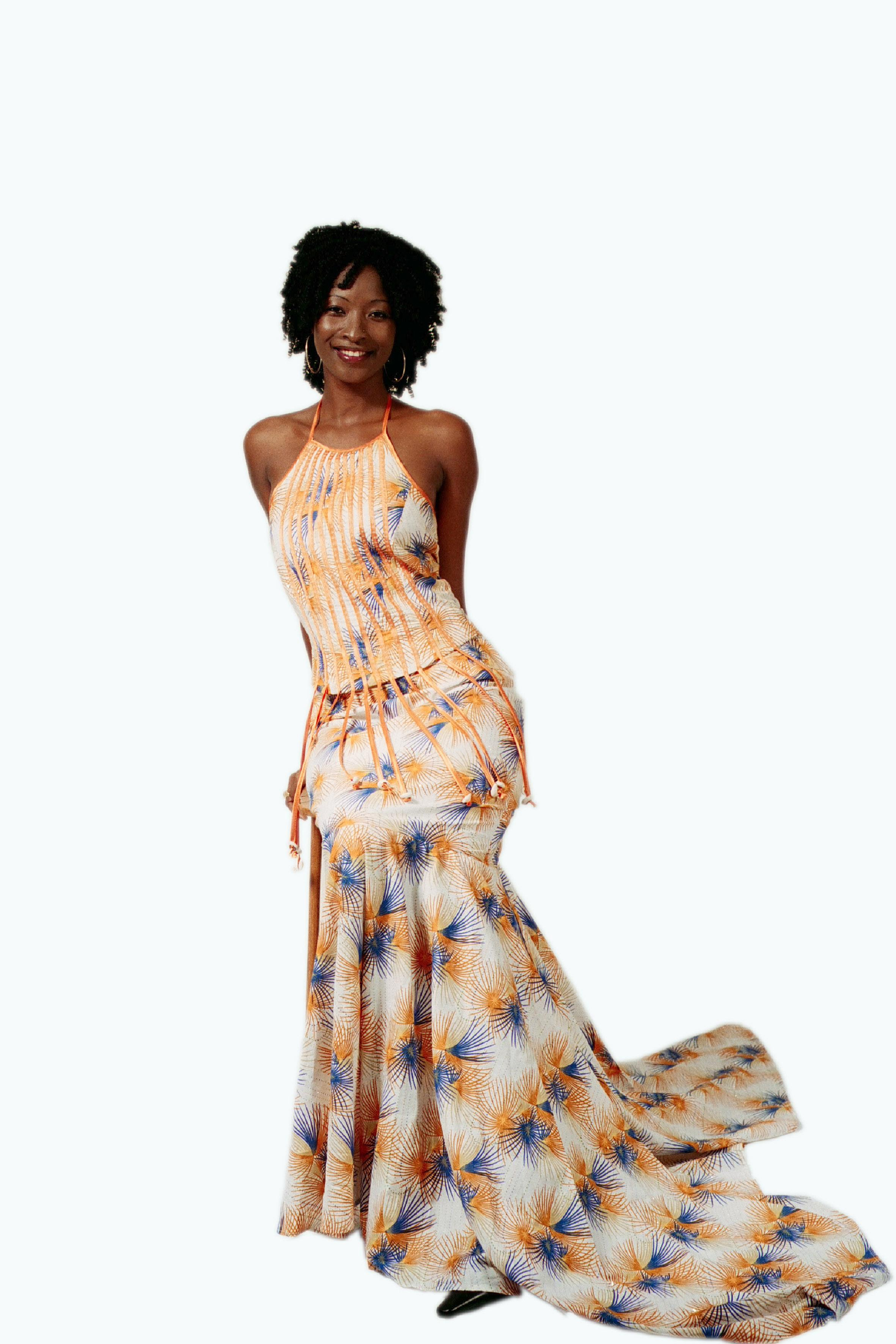 Mod le couture pagne africaine 13 for Couture de kita pagne