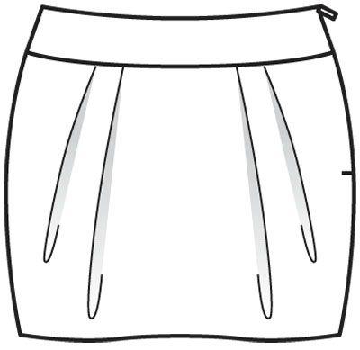 patron couture jupe facile 5. Black Bedroom Furniture Sets. Home Design Ideas