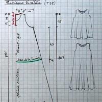 Patron couture robe chasuble femme gratuit