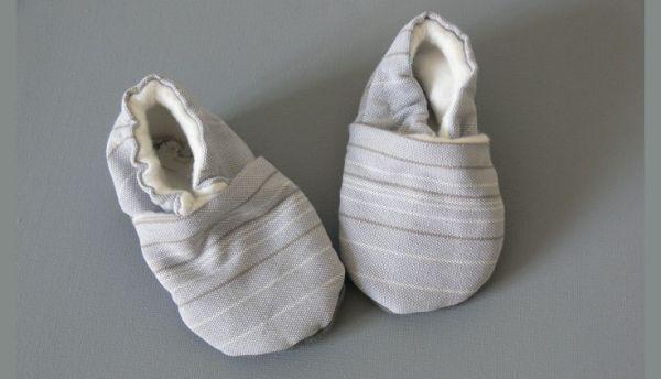 Tuto couture chausson b b facile 3 - Tuto chausson bebe couture ...