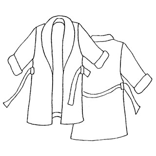 patron couture robe chambre homme
