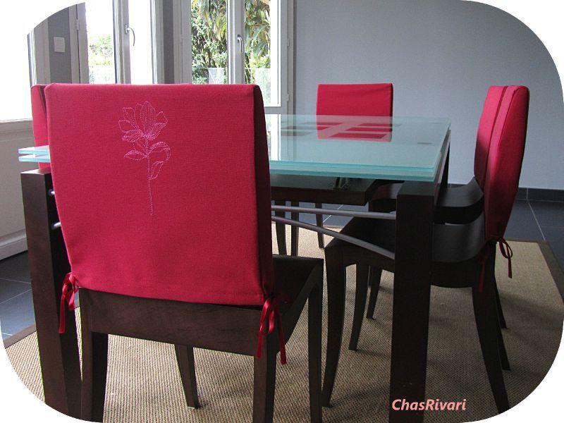 Patron couture housse de chaise for Housse de chaise tissus
