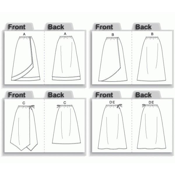 comment coudre jupe portefeuille