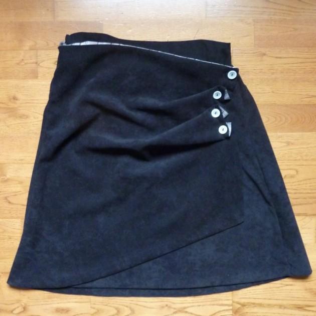 Patron couture jupe portefeuille - Patron couture jupe droite ...