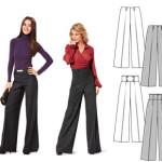 patron couture pantalon femme burda