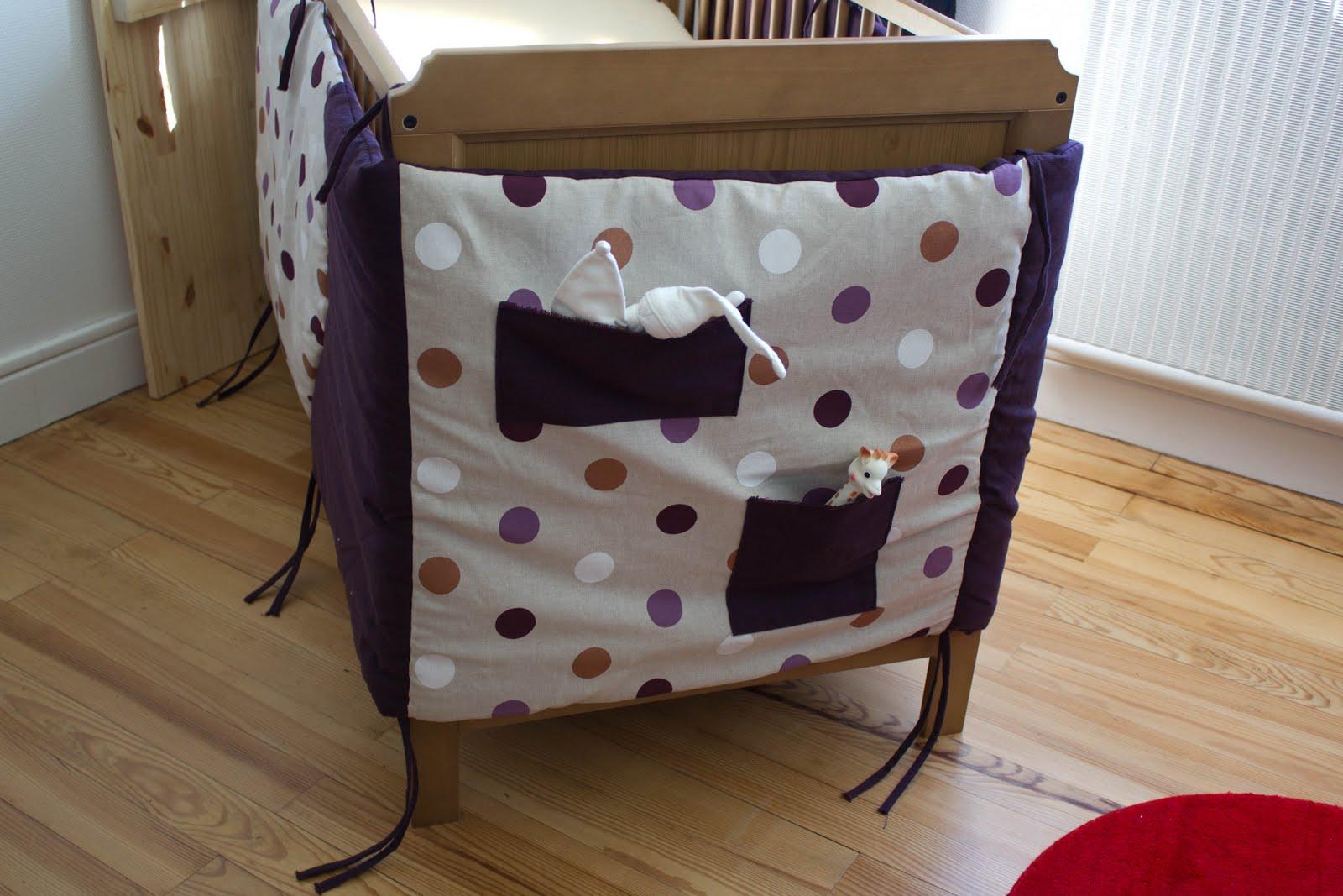 Tutoriel couture tour de lit bebe - Comment mettre le tour de lit ...