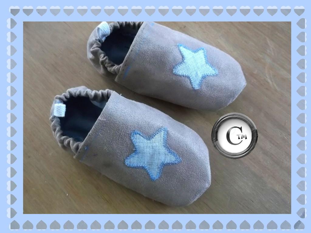 Tuto couture facile b b 14 - Tuto chausson bebe couture ...