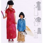 patron couture gratuit robe chinoise
