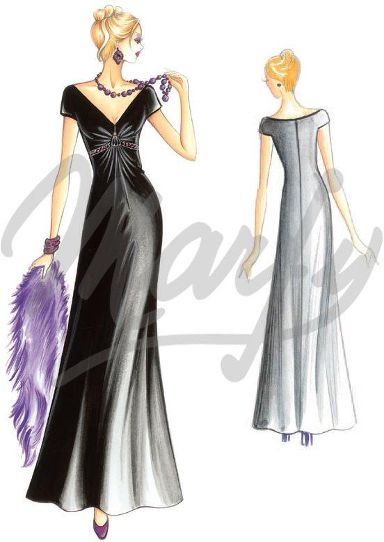 patron couture robe soiree