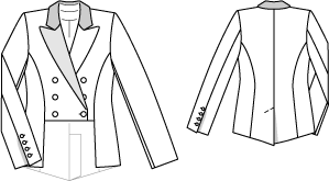 Patron veste femme queue de pie