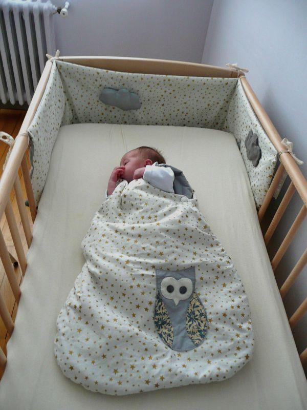 modèle couture tour de lit bébé