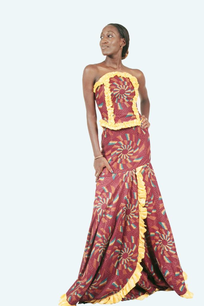 Mod le de couture pagne africain 4 for Couture de kita pagne