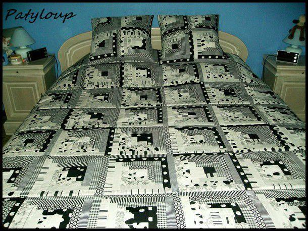 mod le en couture de couvre lits 19. Black Bedroom Furniture Sets. Home Design Ideas