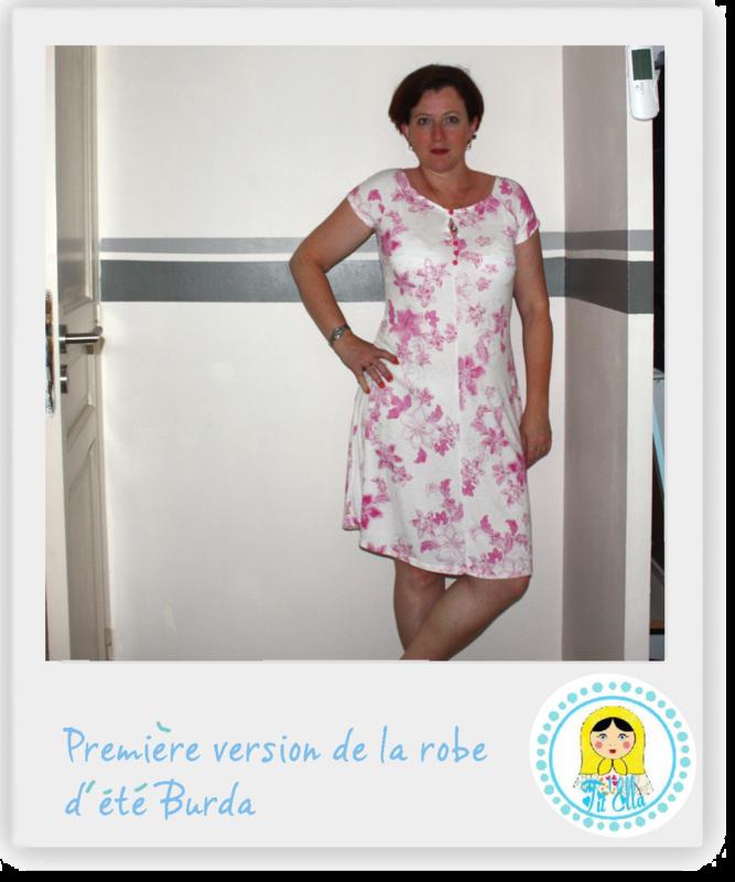 Burda patron gratuit robe droite for Feuille de piano robe de mariage