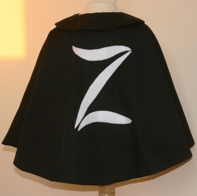 patron couture cape zorro