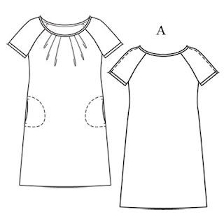 patron couture robe manche raglan