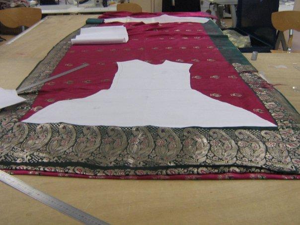 comment coudre un sari indien