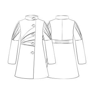 Patron couture manteau femme gratuit - Dessin de couture ...