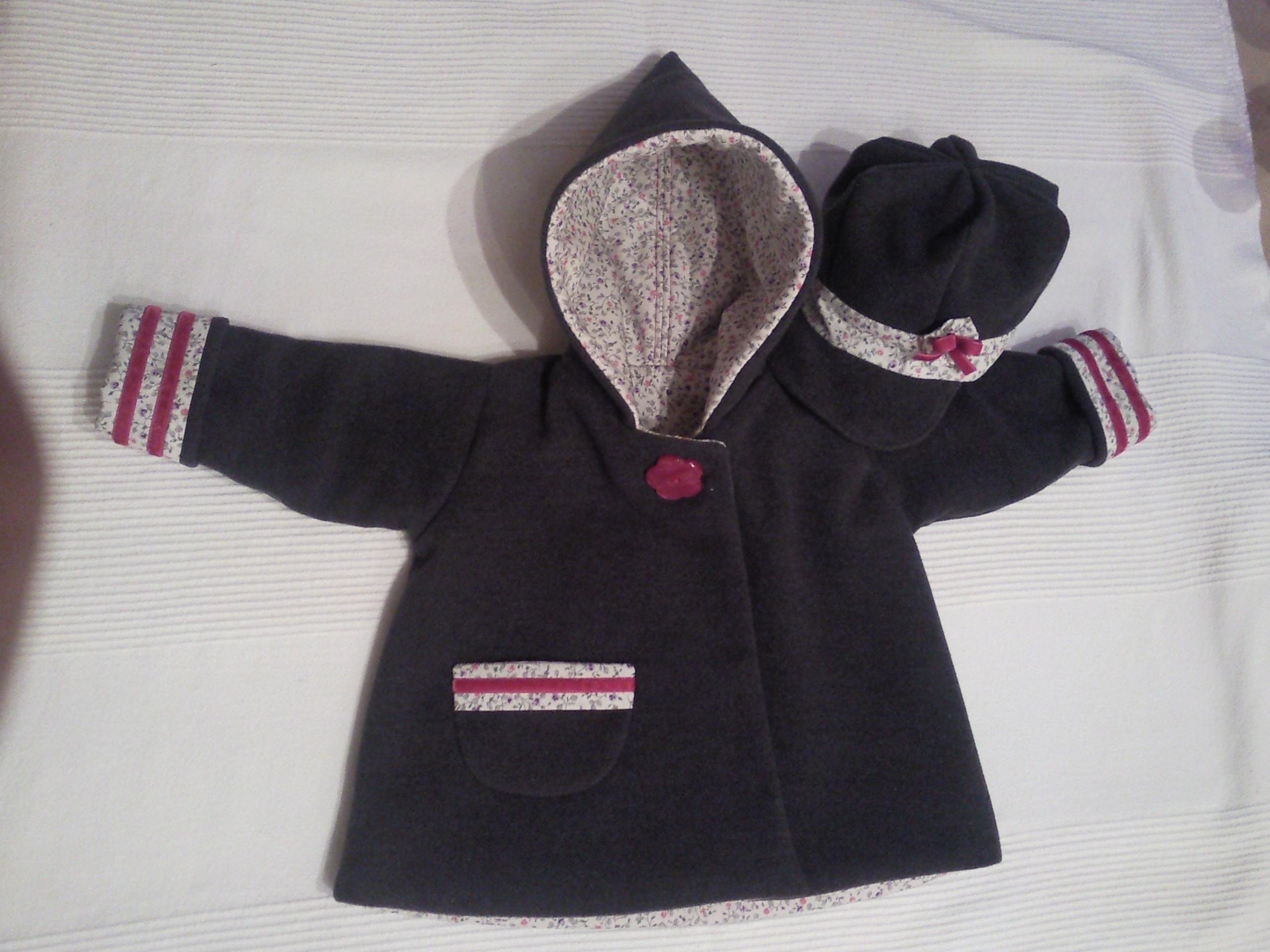 patron couture manteau bebe