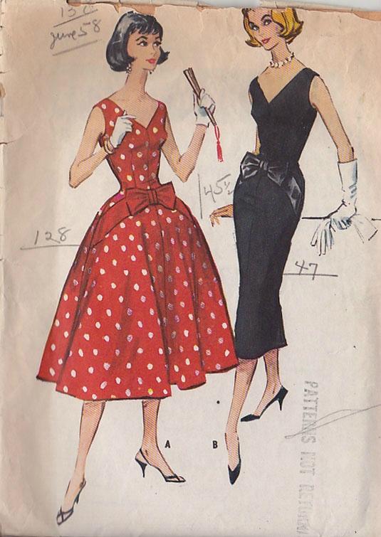 patron couture vintage. Black Bedroom Furniture Sets. Home Design Ideas
