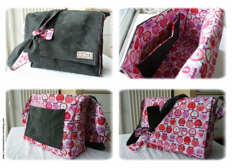 Tutoriel couture sac bandouliere - Tuto sac besace bandouliere ...