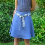 couture facile jupe en biais
