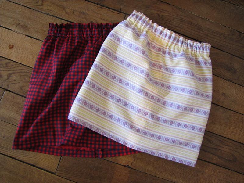 Tuto couture elastique 1 - Patron jupe elastique fille ...