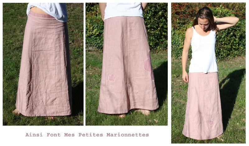 Tuto couture jupe longue 2 - Patron jupe elastique fille ...