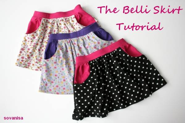 Tuto couture jupe fille 13 - Patron jupe elastique fille ...