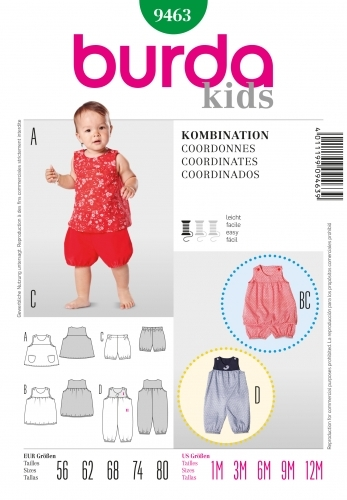 patron couture burda bébé