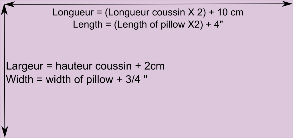 modèle couture housse coussin