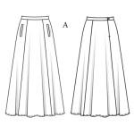 modèle couture jupe longue