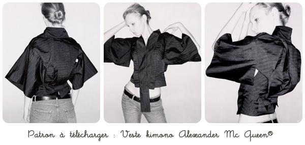 modèle couture kimono