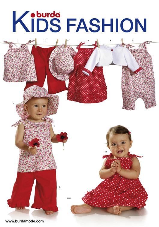 patron couture bébé burda