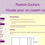 patron couture coussin