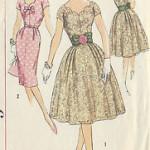 patron couture gratuit robe 1950