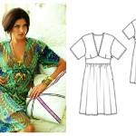 patron couture gratuit robe kimono