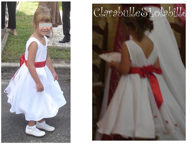 patron couture robe fille d'honneur