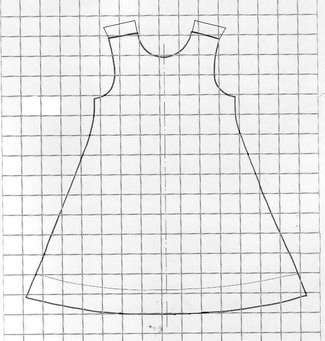 patron couture robe trapeze femme