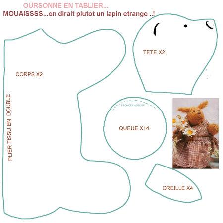 modèle ourson couture