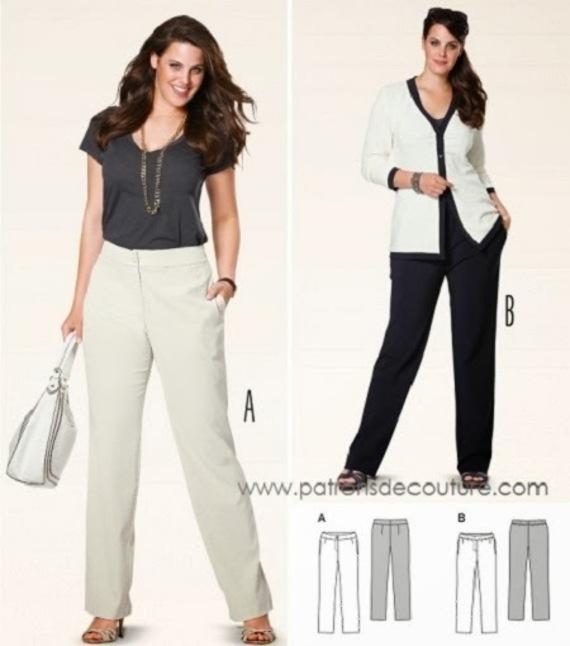 Patron Couture Pantalon Burda Femme 18 mNv80nw