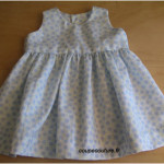patron couture robe bébé 6 mois