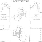 patron couture robe trapeze