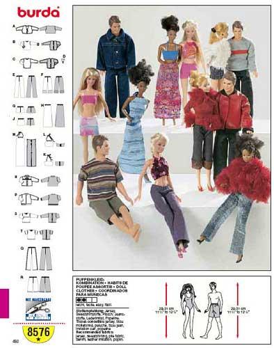 patron couture barbie