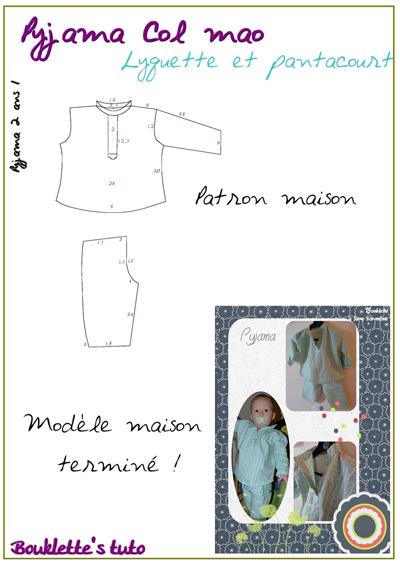 patron couture gratuit pyjama garçon