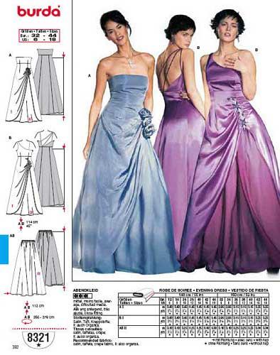 patron couture gratuit robe de soirée